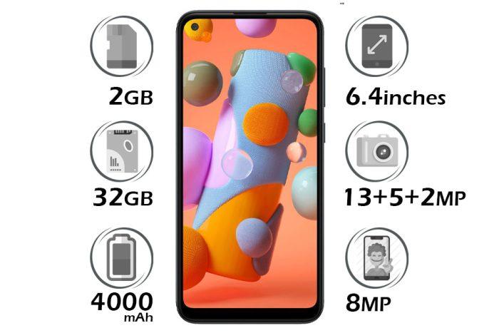 گوشی سامسونگ گلکسی A11 حافظه 32GB با رم 2GB