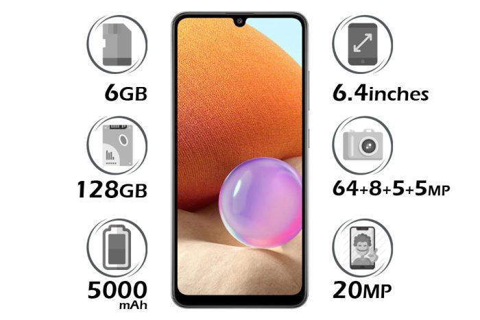 گوشی سامسونگ گلکسی A32 حافظه 128GB رم 6GB