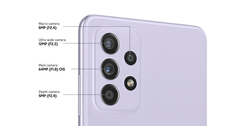دوربین چندگانه گلکسی A52