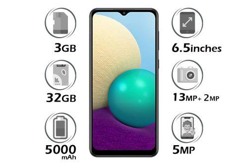 گوشی سامسونگ Galaxy A02 حافظه 32GB رم 3GB