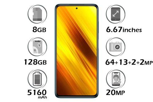 گوشی شیائومی پوکو X3 NFC حافظه 128 گیگابایت رم 8 گیگابایت