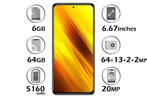 گوشی شیائومی Poco X3 NFC حافظه 64 گیگابایت رم 6 گیگابایت