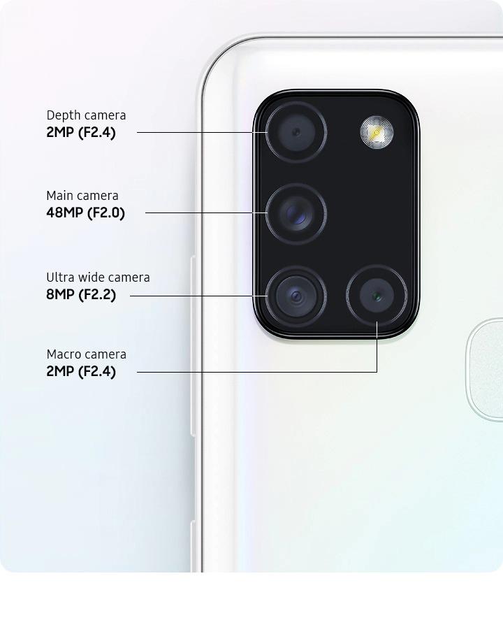 دوربین چهارگانه A21s