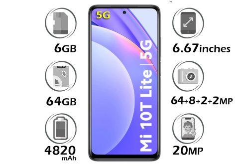 گوشی شیائومی Mi 10 Lite 5G حافظه 64 گیگابایت رم 6 گیگابایت