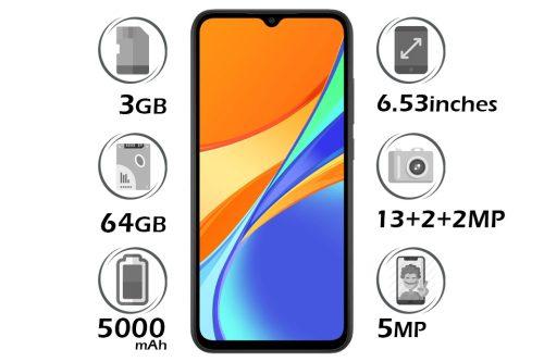 گوشی شیائومی Redmi 9C حافظه 64GB رم 3GB
